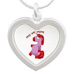 Unicorn Silver Heart Necklace