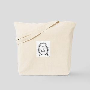 Hedgehog Line Drawing Tote Bag