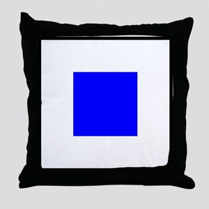 Nautical Flag Code Sierra Throw Pillow