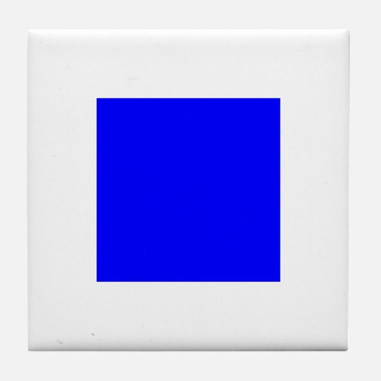 Nautical Flag Code Sierra Tile Coaster
