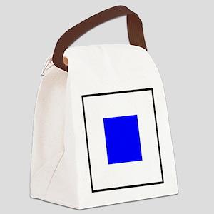 Nautical Flag Code Sierra Canvas Lunch Bag