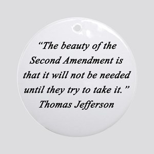 Jefferson - Second Amendment Round Ornament