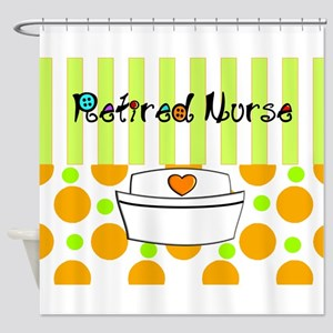 retired nurse official blanket Shower Curtain