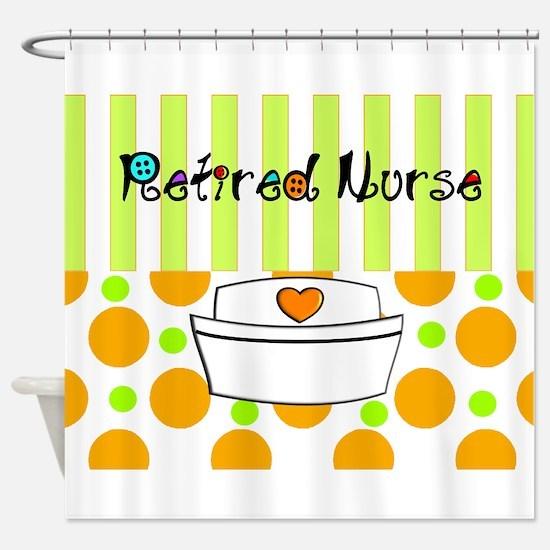 retired nurse official blanket Shower Curtain
