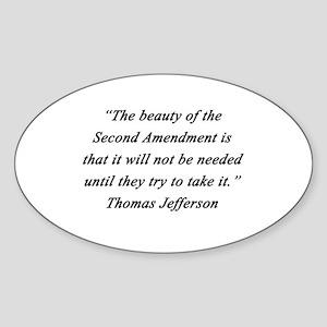 Jefferson - Second Amendment Sticker