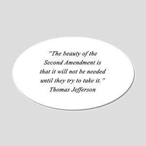 Jefferson - Second Amendment Wall Decal