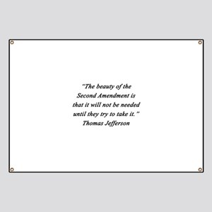 Jefferson - Second Amendment Banner