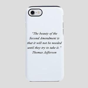 Jefferson - Second Amendment iPhone 7 Tough Case
