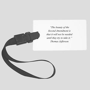 Jefferson - Second Amendment Luggage Tag