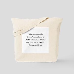 Jefferson - Second Amendment Tote Bag