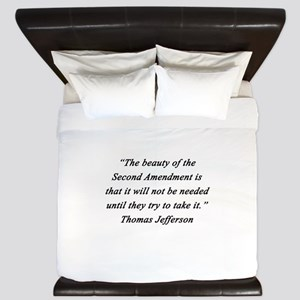Jefferson - Second Amendment King Duvet