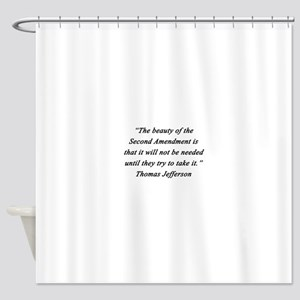 Jefferson - Second Amendment Shower Curtain