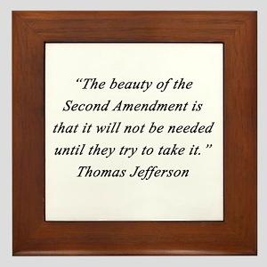 Jefferson - Second Amendment Framed Tile