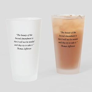 Jefferson - Second Amendment Drinking Glass
