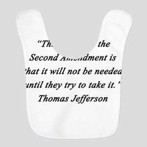 Jefferson - Second Amendment Polyester Baby Bib