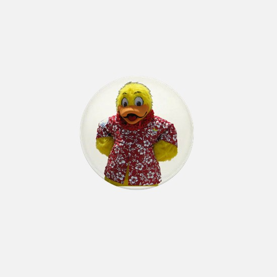 Duckie, the Float Like A Duck Mascot Mini Button