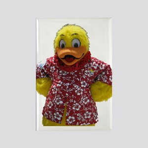 Duckie, the Float Like A Duck Mascot Rectangle Mag