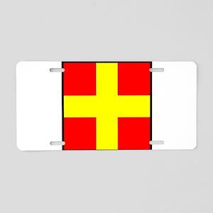 Nautical Flag Code Romeo Aluminum License Plate