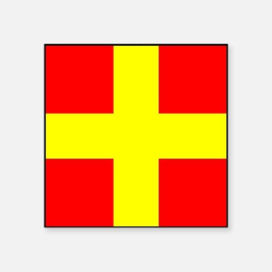 Nautical Flag Code Romeo Sticker