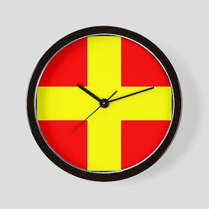 Nautical Flag Code Romeo Wall Clock