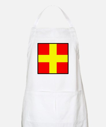 Nautical Flag Code Romeo Apron