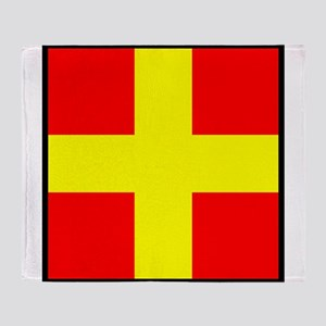 Nautical Flag Code Romeo Throw Blanket