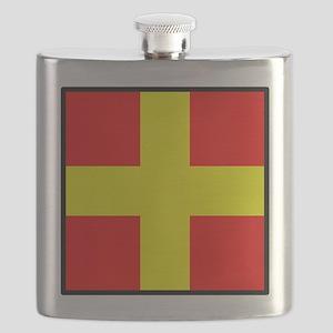 Nautical Flag Code Romeo Flask