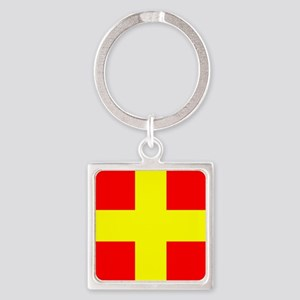 Nautical Flag Code Romeo Keychains