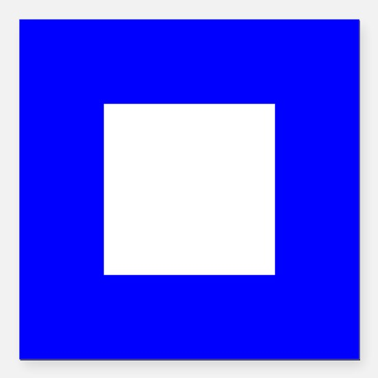 "Nautical Flag Code Papa Square Car Magnet 3"" x 3"""