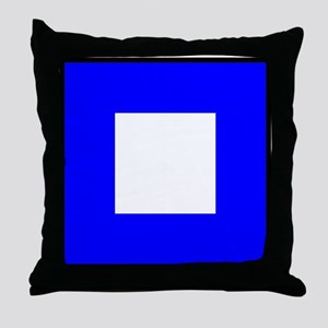 Nautical Flag Code Papa Throw Pillow