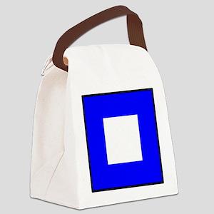 Nautical Flag Code Papa Canvas Lunch Bag