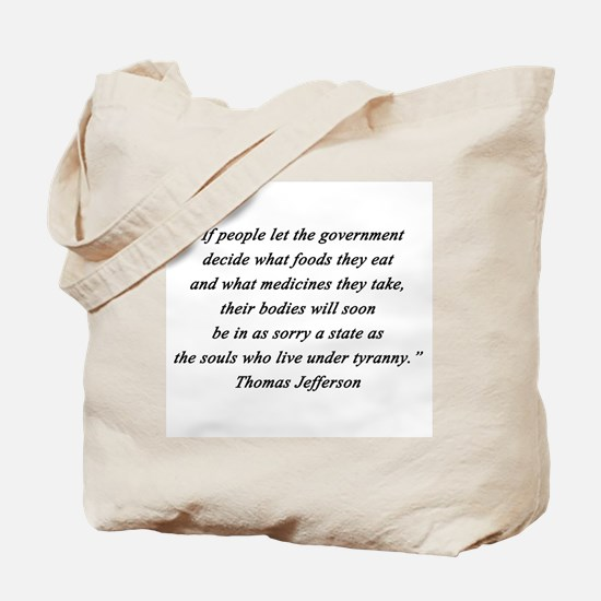 Jefferson - What Foods Tote Bag