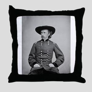George A. Custer Throw Pillow