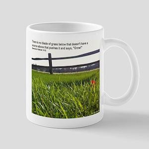Push and Grow quote Mug