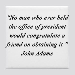 Adams - Office of President Tile Coaster