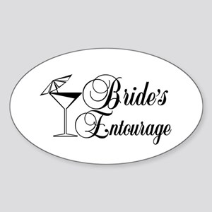 Brides Entourage with Martini Glass Umbrella Stick