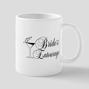 Brides Entourage with Martini Glass Umbrella Mug