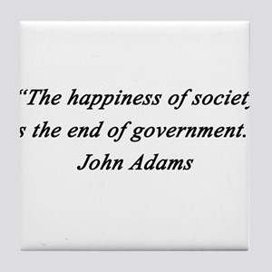 Adams - Happiness of Society Tile Coaster