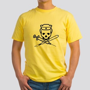 The Pirate Nurse Yellow T-Shirt