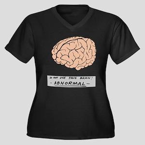 young-f-brain-no-yf-black-text.png Plus Size T-Shi