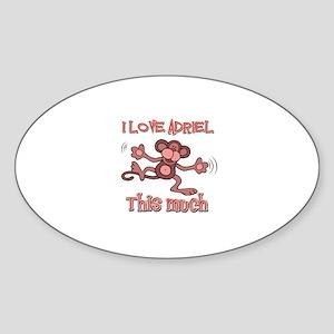I love Adriel this much Sticker (Oval)