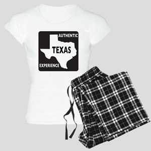 Authentic Texas Experience white-stroked Women's L