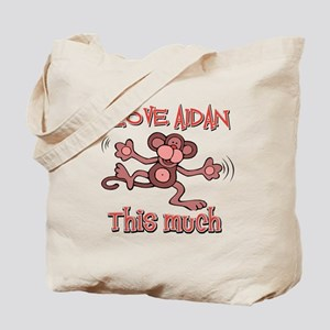 I love Aidan this much Tote Bag
