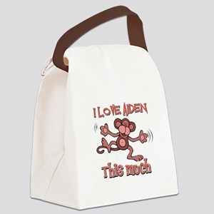 I love Aiden this much Canvas Lunch Bag