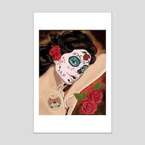 Blue Skull - dia de los muertos Pin-up Posters