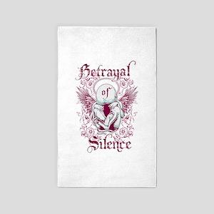 Betrayal of Silence 3'x5' Area Rug