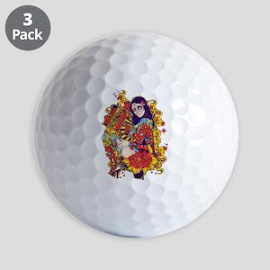 Tattooed Dirty Girl Golf Ball