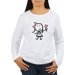 Girl & Pink Ribbon Women's Long Sleeve T-Shirt