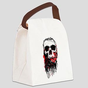 Blood Skull Canvas Lunch Bag