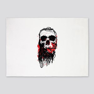 Blood Skull 5'x7'Area Rug